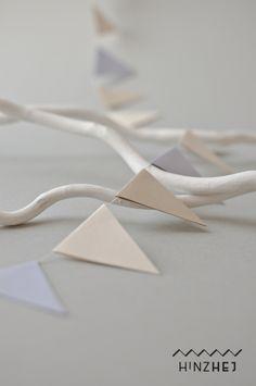 Wimpel-Girlande aus Papier – Wimpelkette Hochzeit