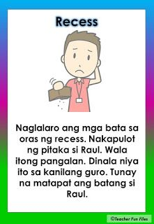 Practice reading with these Tagalog Reading Passages. These can be useful for remedial instruction or can be posted in your classroom wal. 1st Grade Worksheets, Reading Worksheets, Kindergarten Worksheets, Literacy Activities, Reading Comprehension For Kids, Reading Passages, Story For Grade 1, Grade 1 Reading, Classroom Walls
