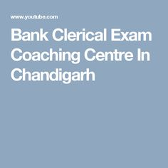 Bank Clerical Exam Coaching Centre In Chandigarh