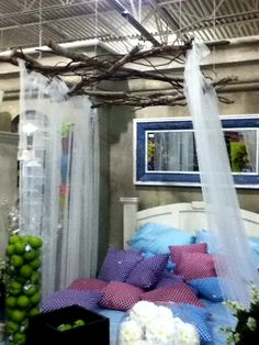 """saw this canopy at a store and fell in love with it!  i can totally see doing this in an """"enchanted forest"""" themed room.  :)"""