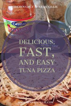 Easy Tuna Pizza, www.moderngillie.com