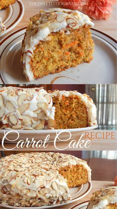 Easy Carrot Cake Recipe | Carrot Cake with Homemade Cream Cheese Frosting Recipe