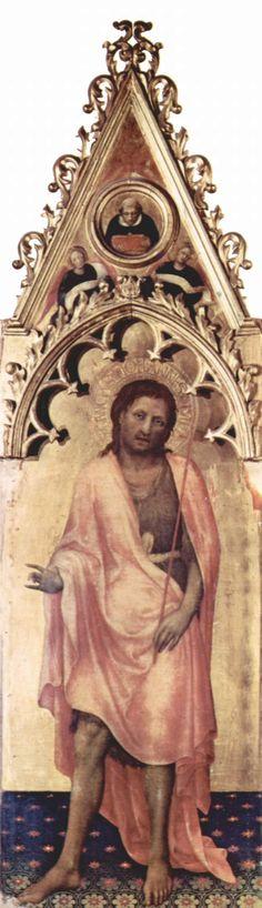 Gentile da Fabriano - Polittico Quaratesi: San Giovanni Battista, (pannello laterale) - 1425 - Galleria degli Uffizi, Firenze