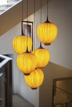 Pendant lamp / original design / silk - MORNING GLORY: DIPPA - Aqua Creations