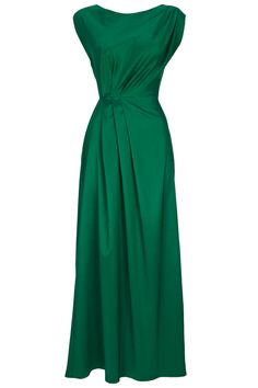 Green Pleat Maxi Dress