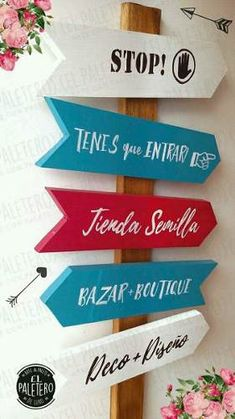 Signage idea for a craft show