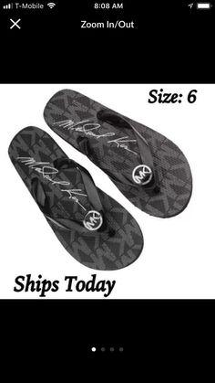 7577f02514fa Michael Kors Thong Flip Flop Sandals - Mercari  The Selling App