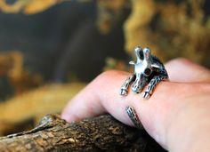 Giraffe Ring Women's Girl's Retro Burnished Animal por authfashion, $13.30