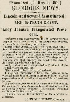 What the Newspapers Said When Lincoln Was Killed | History | Smithsonian