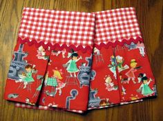 Red Dishtowel   Gingham Kitchen Towel  Tea by mymomwouldbeproud, $12.00