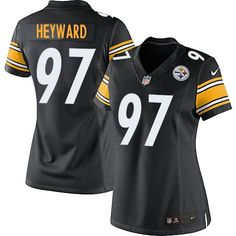 Nike Steelers  97 Cameron Heyward Black Team Color Women s Stitched NFL  Elite Jersey And Malik 01c2117b7