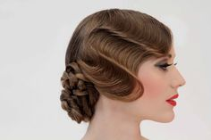 "1930s Fingerwave & Braided Chignon ""Spellbound"" DVD Cover 2013 http://www.patrick-cameron.com"