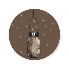 Mason Jars with fireflies