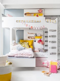 Habitación compartida por dos hermanas / Cómo sacar partido a un cuarto infantil pequeño #hogarhabitissimo