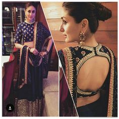 Kareena+Kapoor+Net+Machine+Work+Blue+Semi+Stitched+Lehenga+-+454 at Rs 1199