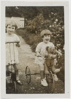 Author Elizabeth Jolley and (younger) sister Madelaine Winifred in the garden, 1927 | by State Library of New South Wales collection