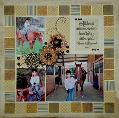 If You Climb in The Saddle Horse Scrapbook Page Kit