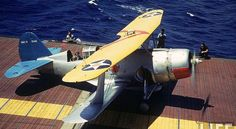 SBC Hell Diver dive bomber on the deck of USS Enterprise, spring 1941.