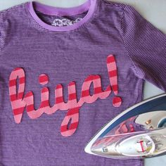 No-Sew Word T-Shirt DIY for Kids (or Moms!). Just click on the arrow to take you to the directions! This is so cute!