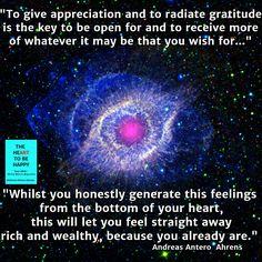 apreciation and gratidude key The HeArt To Be Happy