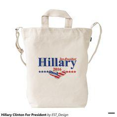 Hillary Clinton For President Duck Canvas Bag
