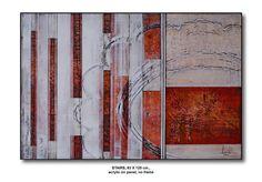 STAIRS, 83 X 125 cm., acrylic on panel