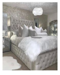 Selecting the right home decorative items can make your dream of a beautiful home come true. With endless choices available in home accessories, you need to have a plan before you set out decorating your home. Grey Bedroom Decor, Stylish Bedroom, Master Bedroom, Bedroom Decor Glam, Modern Grey Bedroom, Feminine Bedroom, Bedroom Signs, Cute Bedroom Ideas, Room Ideas Bedroom
