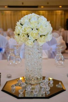 Just bought my centre pieces!! :  wedding ceremony gold ivory reception white Imagepiecesp