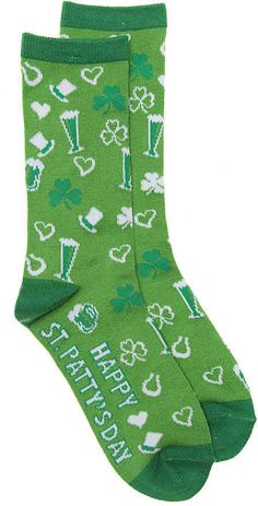 8d01fce90 Flaunt your favorite time of year with the St. Patrick Icons crew socks #ad