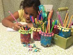 Organizador de lápices utilizando...¿botellas de plástico?? - YouTube