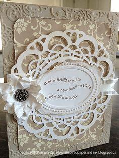 Vintage Wedding card, Stampin Up, Full of life