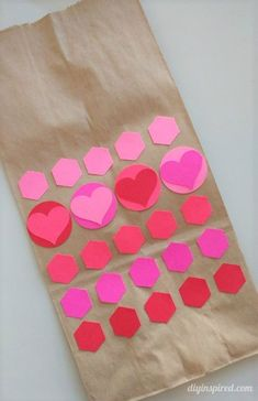 Kid's Craft: Valentine's Day Lunch Bags- Make them with your kids for the week!