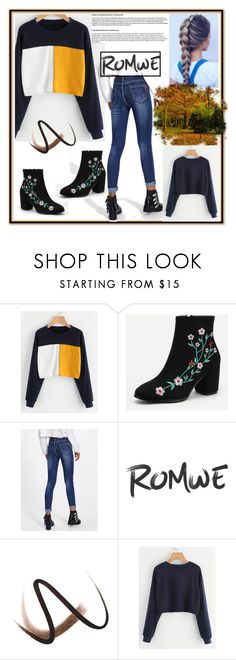 """""""romwe"""" by crvenamalina ❤ liked on Polyvore featuring Burberry"""