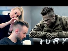 Brad Pitt Hair from FURY | Professional Guide on Mens Undercut - YouTube