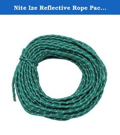 Nite Ize Reflective Rope Pack by Nite Ize. When you're out in the elements at night there are enough hazards to navigate without worrying about losing sight of what you've got tied down. The Nite Ize reflective Rope comes in 50' length, and is perfect for things like tent guy lines, hanging bear bags, boating, tying up tarps or shelters, and then being able to see where it is when you're done. Made of sturdy nylon with a special reflective strip woven into it that reflect brightly when…