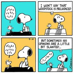 Snoopy & Woodstock:  opinions