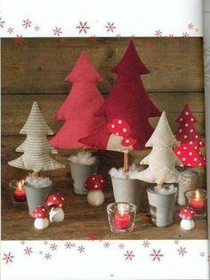 Puffy Felt Christmas Trees