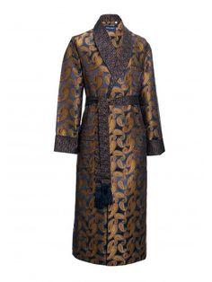 .Derek Rose Silk Dressing Gown.