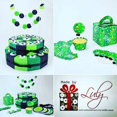 "Handgemachte Party Set ""Fussball"" www.facebook.com/madebyLuly"