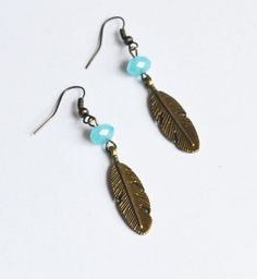 Bohemian Feather Earrings Native American Inspired by LOVEnLAVISH, $15.00