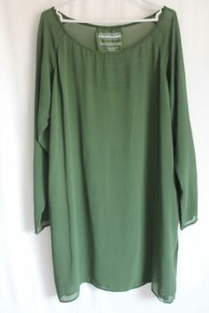 cocon.commerz PRIVATSACHEN Tunika aus Crepe Georgette in grün Größe 3