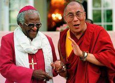 Archbishop Desmond Tutu and the Dalai Lama meet in easier times ...