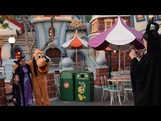 Swing by ToonTown to say hello to Pluto and Chip & Dale. During Mickey's Halloween Party at Disneyland, you can dress up in costume and pose for a photograph with the three.