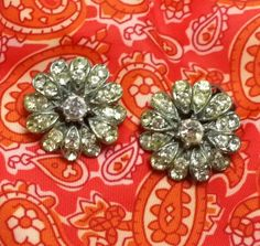 Vintage Rhinestone Earrings Paste by EclecticVintager on Etsy, $15.00