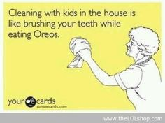 Cleaning with kids in the house