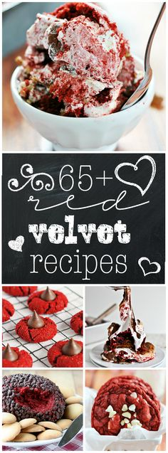 Over 65 creative Red Velvet recipes from all over the web!