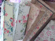 Old fabric boxes