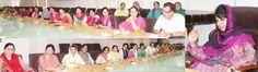 Chief Minister Mehbooba Mufti interacting with women staffers at Civil Secretariat.