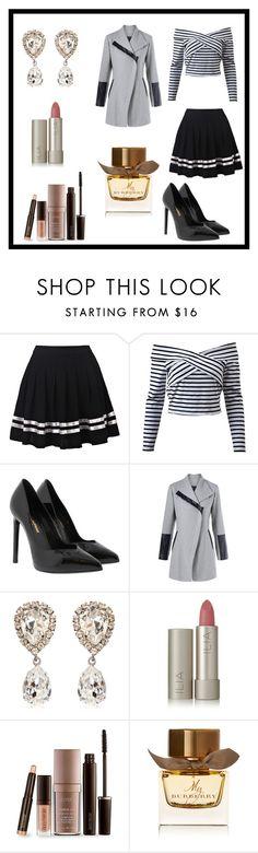 """Untitled #7"" by jasmina-ishak ❤ liked on Polyvore featuring Yves Saint Laurent, Dolce&Gabbana, Ilia, Laura Mercier and Burberry"