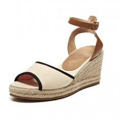 Wedge Sandal - Vintage Bandana Navy Espadrilles for Women from Soludos - Soludos Espadrilles